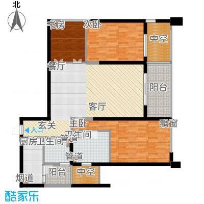 莱蒙时代134.00㎡凌云户型3室2厅