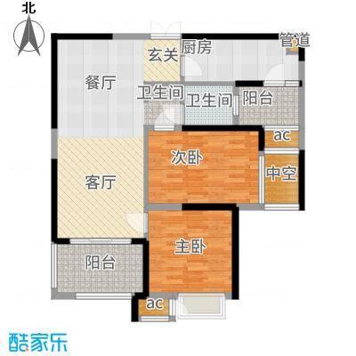 星河国际89.00㎡A2户型2室2厅