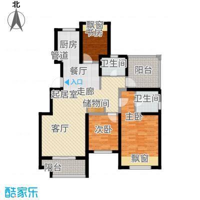 青枫国际111.89㎡C户型3室2厅