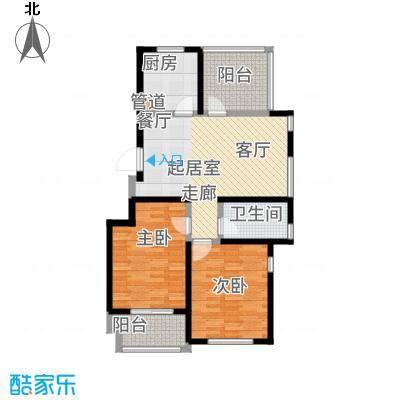 青枫国际90.01㎡A户型2室2厅