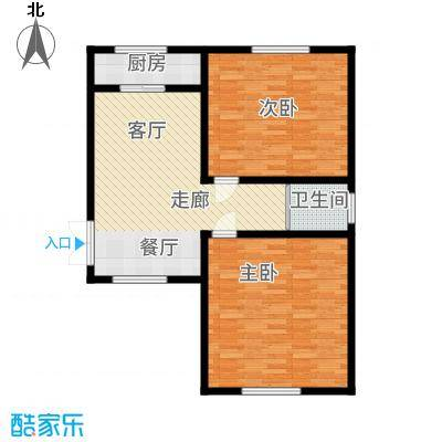 阳光龙庭89.00㎡户型2室1厅