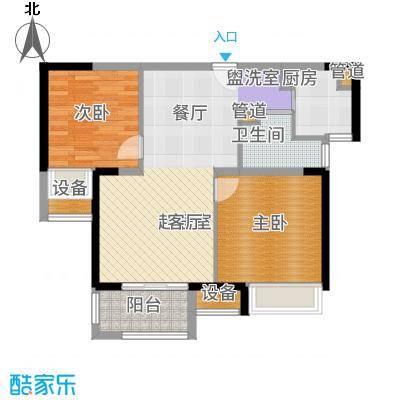 锦绣天地77.00㎡户型2室2厅
