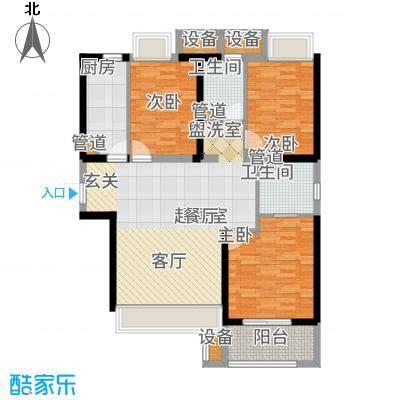 锦绣天地98.00㎡户型2室2厅