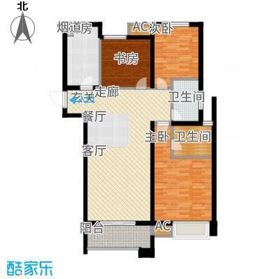 中海凤凰熙岸108.00㎡C2户型3室2厅