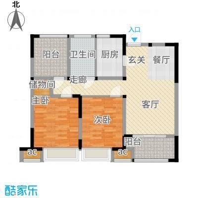 兰陵锦轩89.18㎡7#楼B户型2室2厅