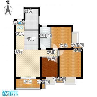 金旅城98.48㎡8、9、10号楼B-2户型3室2厅