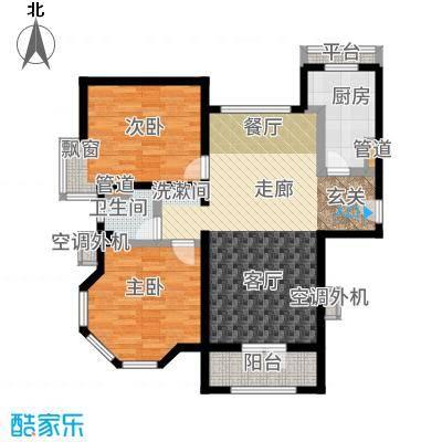华贸蔚蓝海岸94.00㎡洋房D户型2室2厅