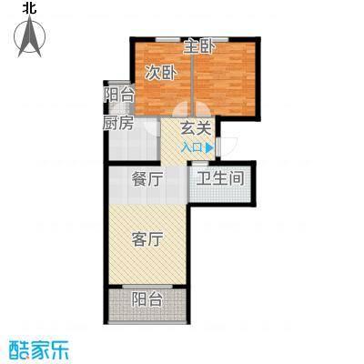 鸥洲89.62㎡小高层G户型2室2厅