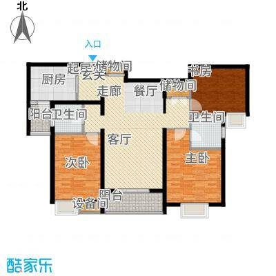 金旅城140.33㎡6、7号楼D-1户型3室2厅