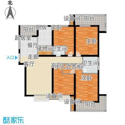 金旅城191.19㎡6、7号楼E-1户型5室2厅