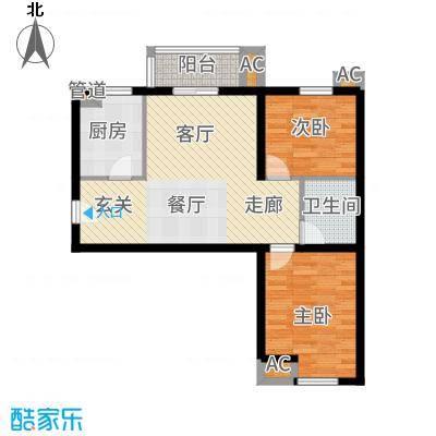 果岭湾89.00㎡9#10#楼S户型2室2厅