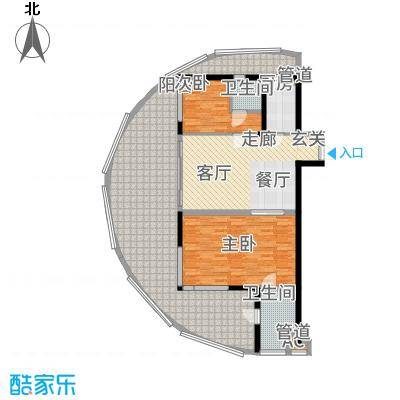 佳兆业东戴河114.00㎡高层A户型2室2厅