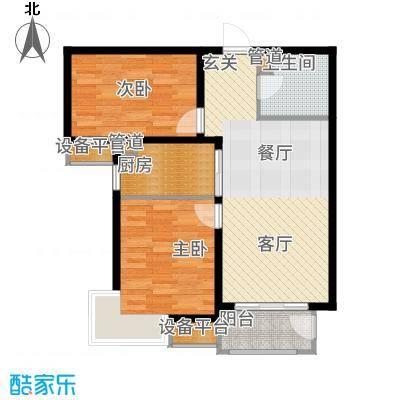 金屋秦皇半岛87.35㎡八区11号楼B户型2室2厅