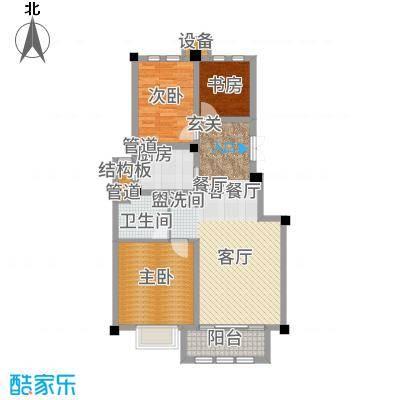上海大公馆95.60㎡E户型3室2厅