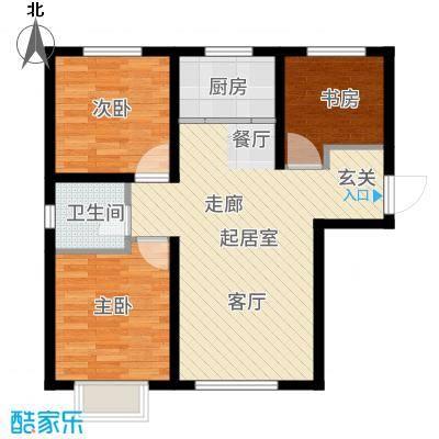 吴中北国之春88.00㎡户型3室2厅