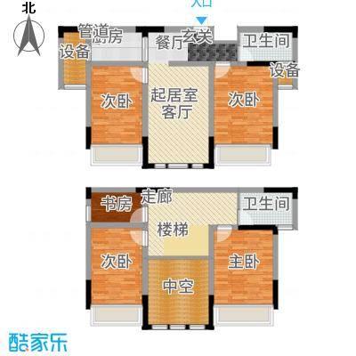 上海大公馆140.29㎡B1户型4室2厅