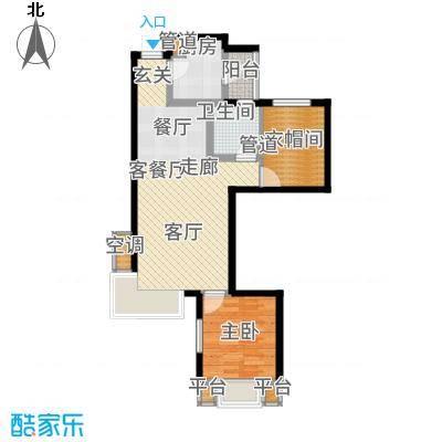 富立秦皇半岛79.91㎡C3-2户型2室2厅