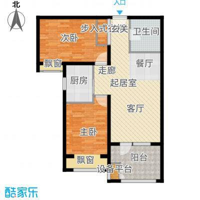 中铁秦皇半岛82.00㎡A2户型2室2厅