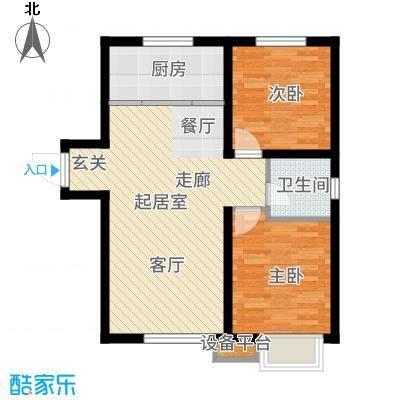 吴中北国之春83.00㎡户型2室2厅
