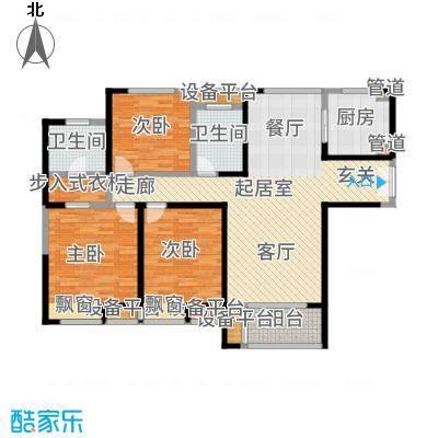 金海名园122.73㎡C户型3室2厅