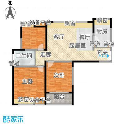 金海名园109.87㎡A-户型3室1厅