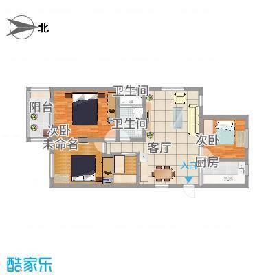 A户型3室2厅1卫1厨115平 - 副本 - 副本