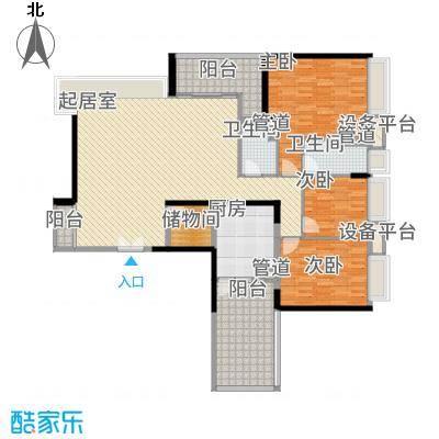 五洲花城二期142.00㎡D2c3++三阳台户型4室2厅