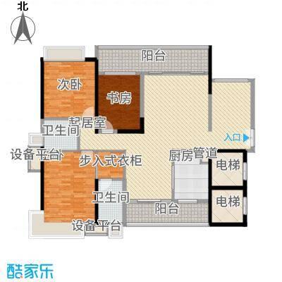 五洲花城二期143.00㎡F1户型3室2厅