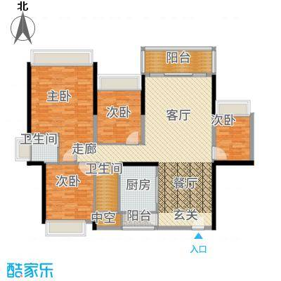 五洲家园112.00㎡0726单张E户型4室2厅