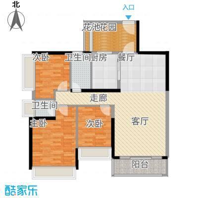 五洲家园101.00㎡M2户型3室2厅