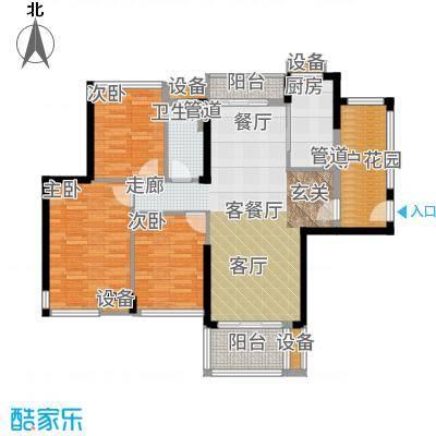 爱ME公园101.82㎡9/10座2-22层D-03户型3室2厅