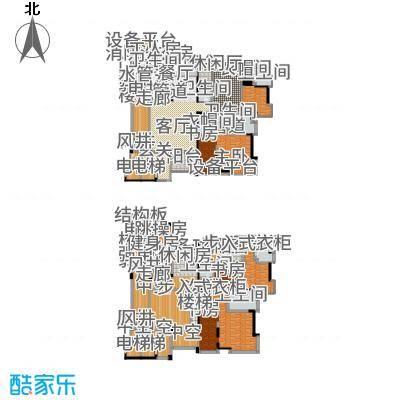 中铁·凤凰谷511.30㎡B2+开放式书房+工人套间户型