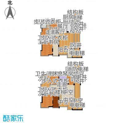 中铁·凤凰谷447.83㎡C2+工人套间户型6室3厅