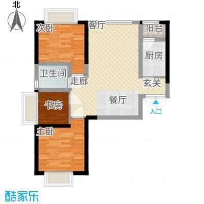 嘉逸岭湾89.79㎡云台-3-A户型3室2厅