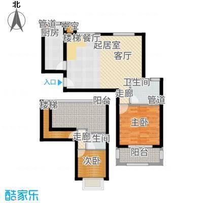 洱海国际生态城98.61㎡洱海金沙国际生态城两露台Ta5户型2室2厅