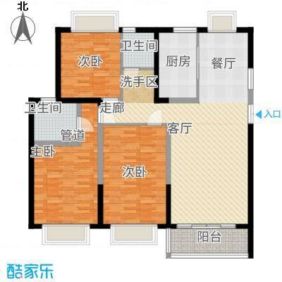 嘉逸岭湾142.98㎡云台-3-D户型3室2厅