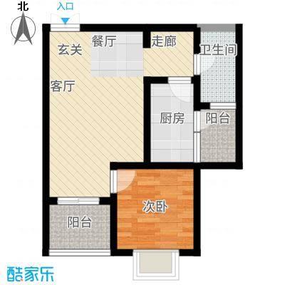 苹果城二期桂园桂园C2户型1室1厅