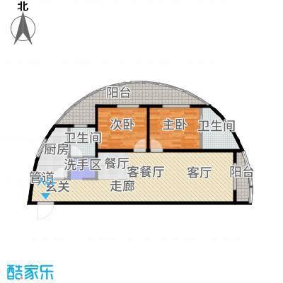 洱海龙湾户型2室2厅