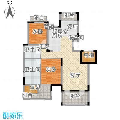 金泰南燕湾113.00㎡洋房A2-1户型3室2厅