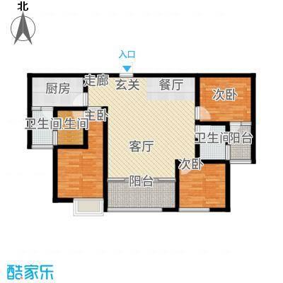 苹果城二期桂园桂园A2户型3室2厅