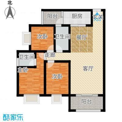 苹果城二期桂园桂园B2户型3室2厅