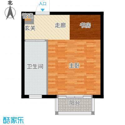 大理王宫50.00㎡户型1室1厅