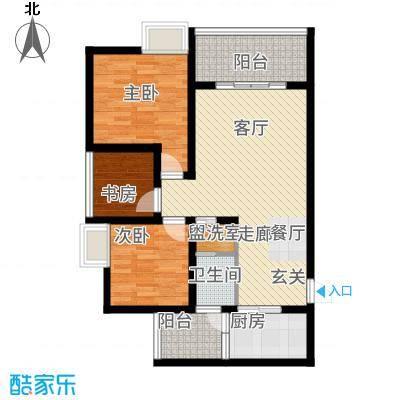 苹果城二期桂园桂园C1户型2室2厅