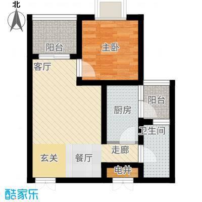 苹果城二期桂园桂园C3户型1室1厅