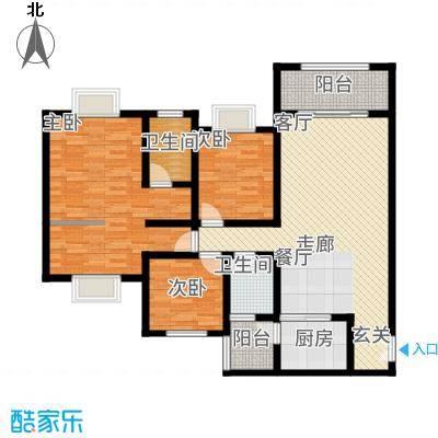 苹果城二期桂园桂园B1户型3室2厅