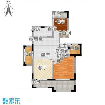 金泰南燕湾91.00㎡洋房A1-1户型2室2厅