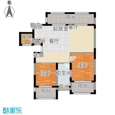 金泰南燕湾107.00㎡洋房A2-2户型2室2厅