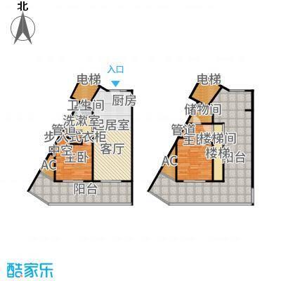 乐活城市107.00㎡小高层顶层复式AF户型