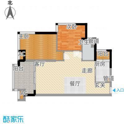 桃源居B6  户型2室2厅