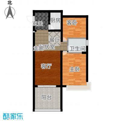 三亚金棕榈72.90㎡三亚·金棕榈1、4号楼B户型2室2厅